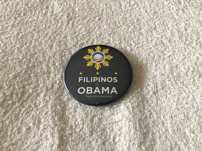 Filipinos for Obama 2008 campaign button (RARE)