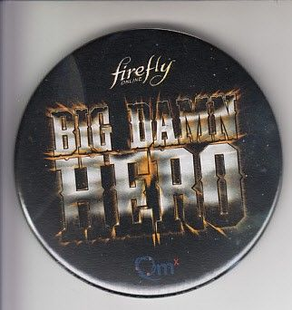 Firefly Online 2015 Comic-Con promo button or pin and 4x6 card