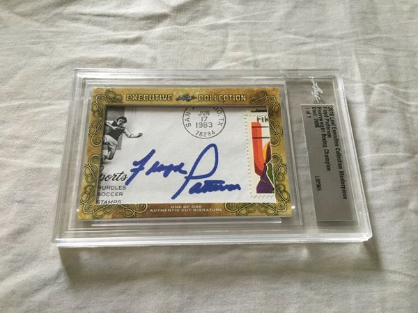 Floyd Patterson 2018 Leaf Masterpiece Cut Signature certified autograph card 1/1