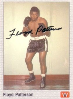 Floyd Patterson autographed All World boxing card
