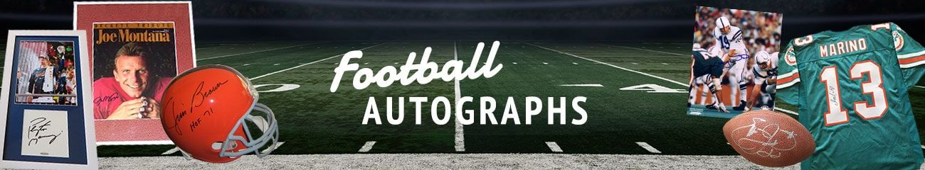 Football Autographs by Autographs for Sale
