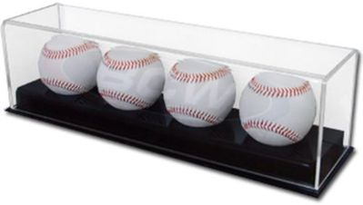Four baseball acrylic display case