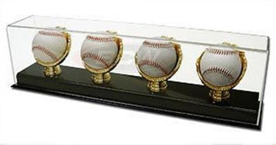 Four baseball gold glove acrylic display case