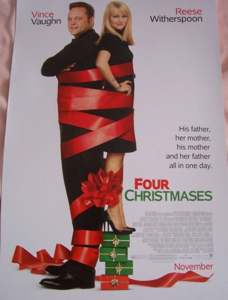 Four Christmases mini movie poster (Vince Vaughn & Reese Witherspoon)