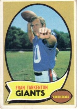 Fran Tarkenton 1970 Topps card #80 Very Good