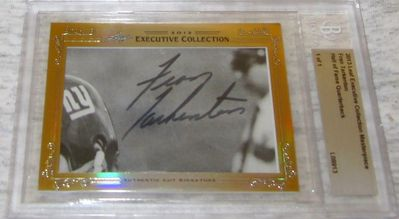 Fran Tarkenton 2013 Leaf Masterpiece Cut Signature certified autograph card 1/1 JSA