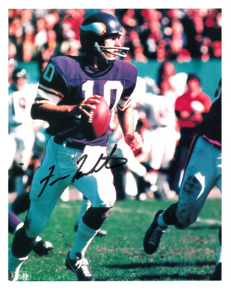 Fran Tarkenton autographed Minnesota Vikings 8x10 photo