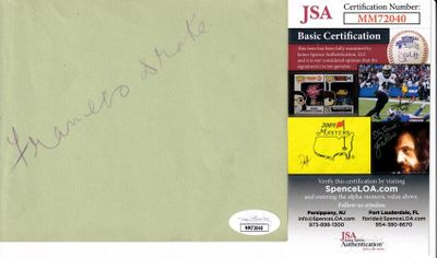 Frances Drake (Les Miserables) autographed autograph album or book page (JSA)