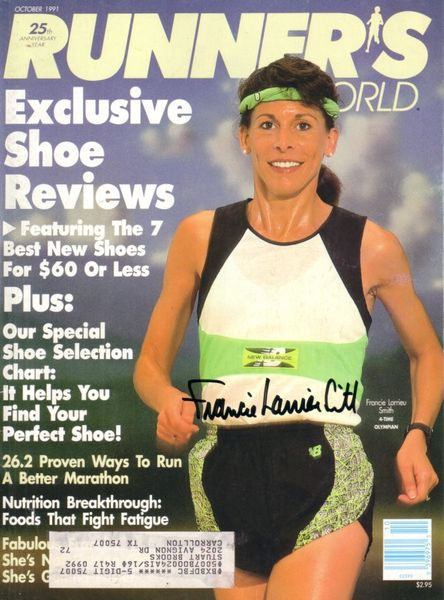 Francie Larrieu autographed 1991 Runner's World magazine cover