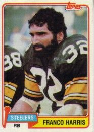 Franco Harris Pittsburgh Steelers 1981 Topps card