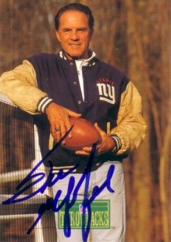 Frank Gifford autographed New York Giants 1992 Pro Line card