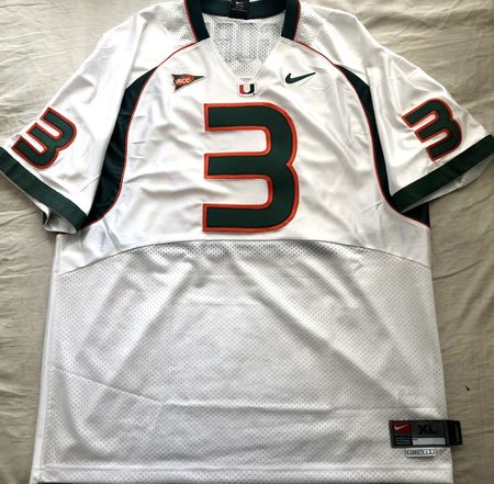 Frank Gore 2004 Miami Hurricanes authentic Nike stitched white 2XL jersey NEW