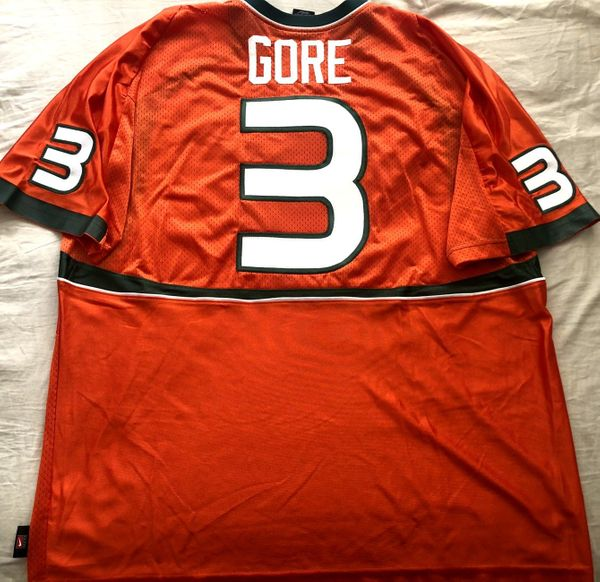 Frank Gore 2004 Miami Hurricanes authentic Nike double stitched orange jersey NEW