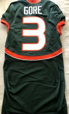 Frank Gore 2004 Miami Hurricanes TEAM ISSUED authentic Nike stitched green game model jersey NEW