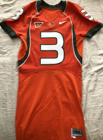 Frank Gore 2004 Miami Hurricanes TEAM ISSUED authentic Nike stitched orange game model jersey NEW