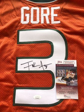 Frank Gore autographed Miami Hurricanes 2004 authentic Nike stitched orange jersey (JSA Witnessed)
