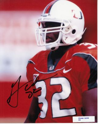 Frank Gore autographed Miami Hurricanes 8x10 photo