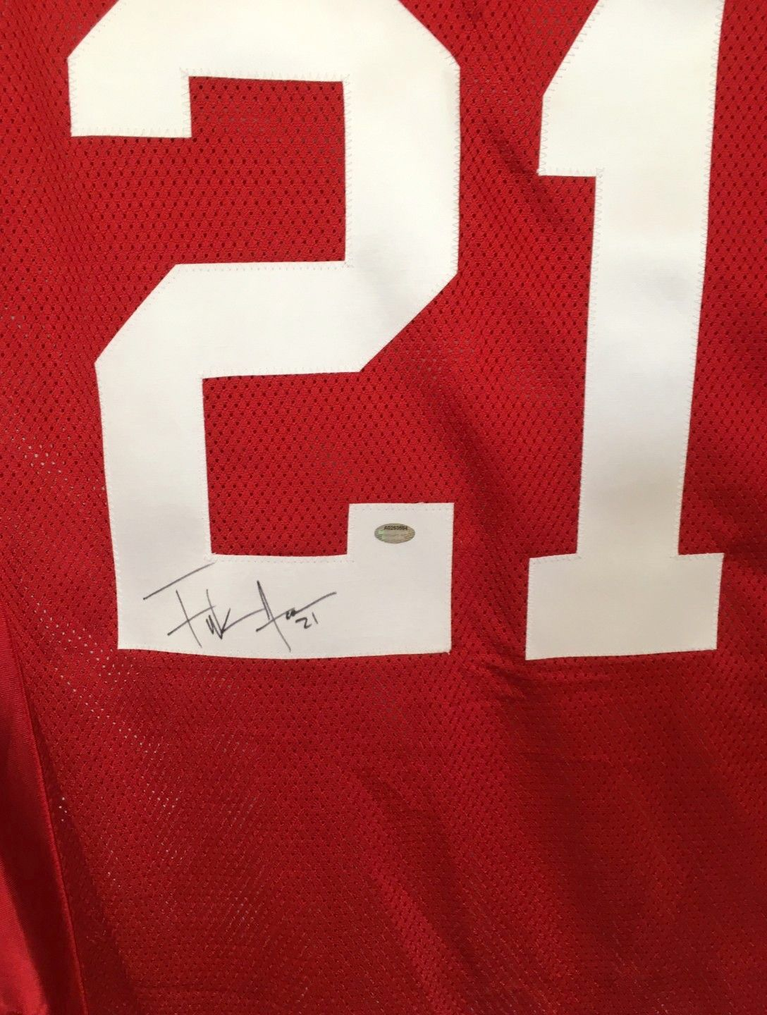 214a95ed5 Frank Gore autographed San Francisco 49ers authentic Reebok stitched red  jersey (Schwartz Sports)