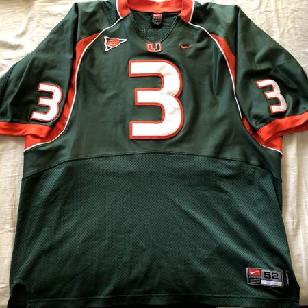 Frank Gore Miami Hurricanes 2004 authentic Nike green game model stitched jersey