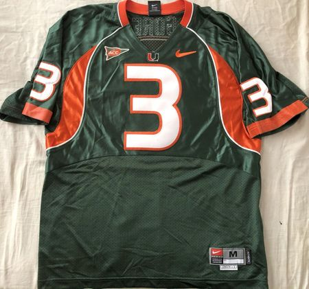 Frank Gore 2004 Miami Hurricanes authentic Nike stitched green jersey