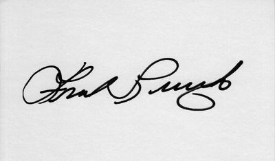 Frank Lucchesi autographed index card (cut signature)