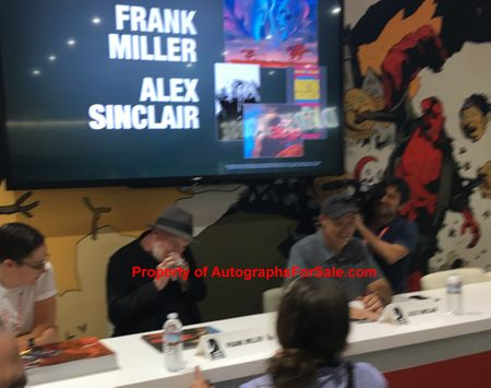 Frank Miller and Alex Sinclair autographed DK3 The Master Race 2017 Comic-Con variant comic book #9