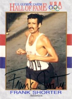 Frank Shorter autographed U.S. Olympic Hall of Fame card