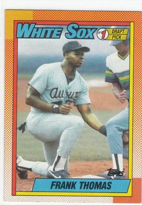 Frank Thomas Chicago White Sox 1990 Topps Rookie Card #414