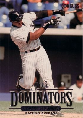 Frank Thomas Chicago White Sox 1994 Donruss Dominators jumbo insert card (#/10000)