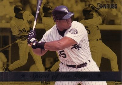 Frank Thomas Chicago White Sox 1994 Donruss Spirit of the Game jumbo insert card (#/10000)