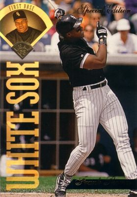 Frank Thomas Chicago White Sox 1994 Leaf Special Edition jumbo insert card (#/10000)