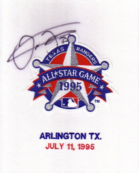 Frank Thomas autographed 1995 All-Star Game jersey sleeve patch