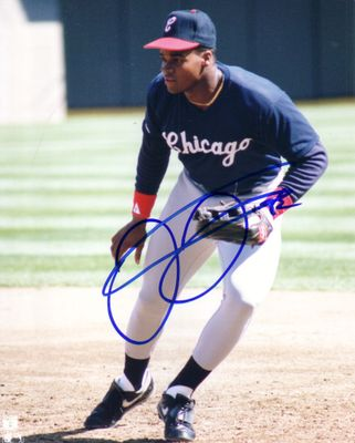 Frank Thomas autographed Chicago White Sox 1990 rookie season 8x10 photo