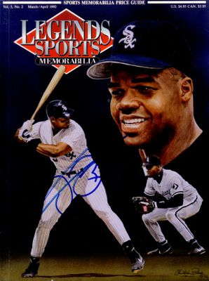 Frank Thomas autographed Chicago White Sox 1992 Legends magazine