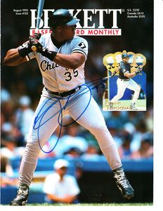 Frank Thomas autographed Chicago White Sox 1995 Beckett Baseball cover