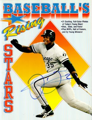 Frank Thomas autographed Chicago White Sox Baseball's Rising Stars book