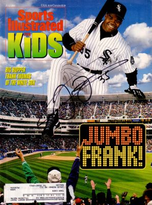 Frank Thomas autographed Chicago White Sox Sports Illustrated for Kids magazine
