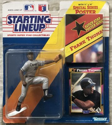 Frank Thomas Chicago White Sox 1992 Kenner Starting Lineup action figure with baseball card