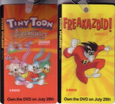 Freakazoid and Tiny Toon Adventures 2008 Comic-Con double sided promo keychain or key fob
