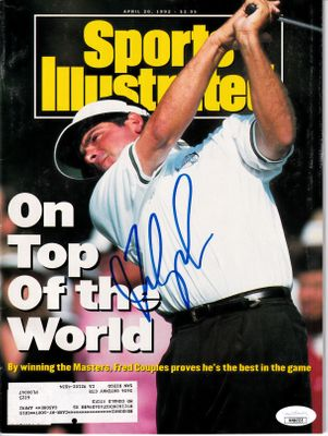 Fred Couples autographed 1992 Masters Champion Sports Illustrated (JSA)
