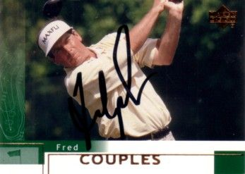Fred Couples autographed 2002 Upper Deck golf card
