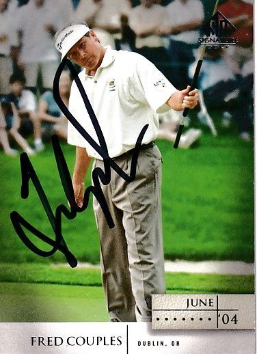 Fred Couples autographed 2004 SP Signature golf card