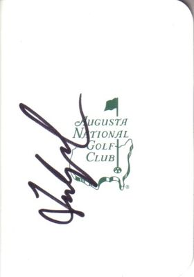 Fred Couples autographed Augusta National Masters scorecard