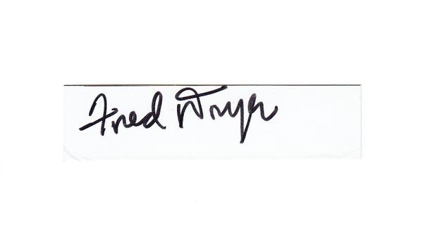 Fred Dryer autograph or cut signature