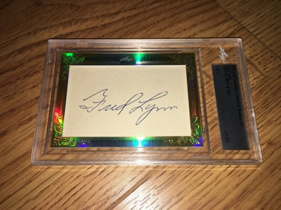 Fred Lynn 2015 Leaf Masterpiece Cut Signature certified autograph card 1/1 JSA