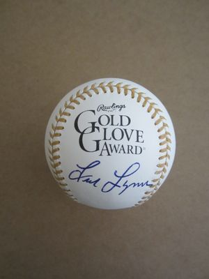 Fred Lynn autographed Rawlings Gold Glove baseball (MLB authenticated)