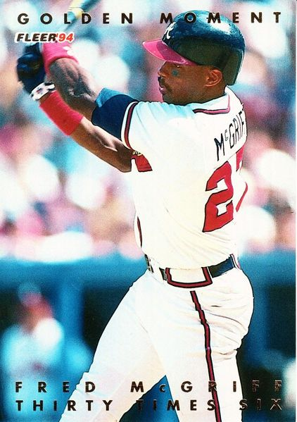 Fred McGriff Atlanta Braves 1994 Fleer Golden Moments jumbo insert card #6106/10000