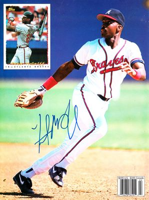 Fred McGriff autographed Atlanta Braves Beckett Baseball back cover photo