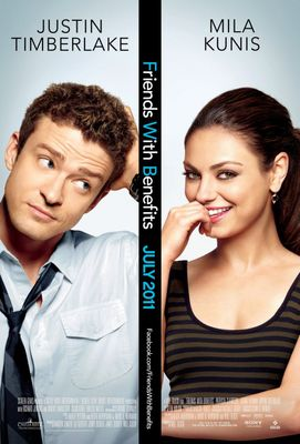 Friends with Benefits 2011 mini movie poster (Mila Kunis Justin Timberlake)