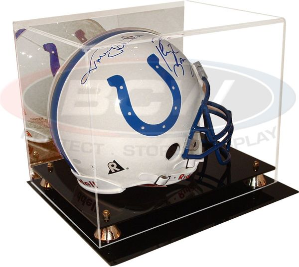 Full size football helmet deluxe acrylic display case